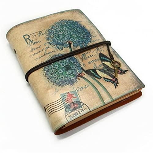HBNNBV Diario Papelería Vintage PU Cuero Cuaderno Creativo Kraft Papel Planificador Sketchbook Agenda Diario Cuadernos Suave Forrado (Color : B A5, tamaño : A5)