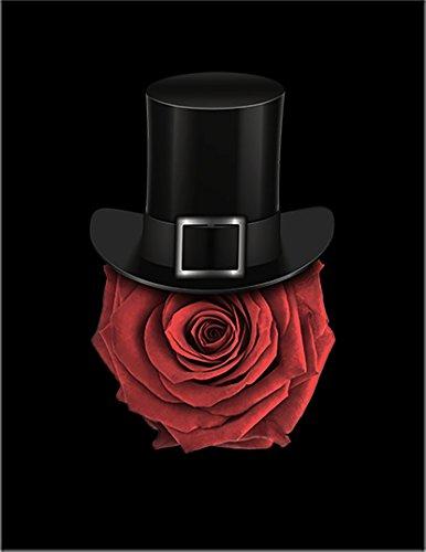 【FOX REPUBLIC】【薔薇 ハット】 黒マット紙(フレーム無し)A3サイズ