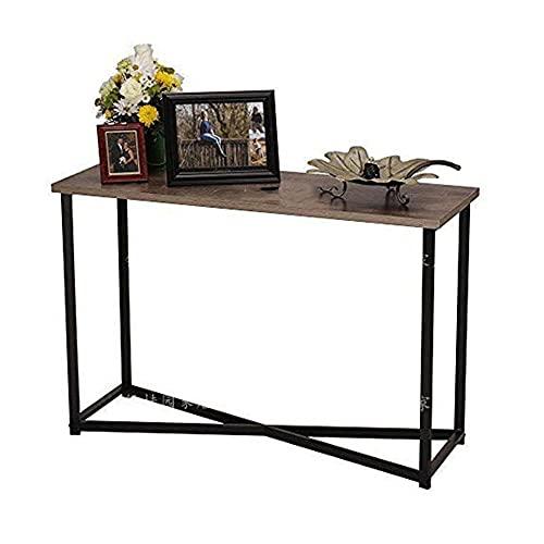 LIANG Mesa de consola retro, de hierro para sala de estar, de 31 x 31 pulgadas, para sala de estar, dormitorio