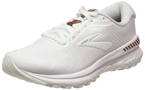 Brooks Women's Adrenaline Gts 20 Running Shoes, White Rose Gold, 3.5 UK (36 EU)