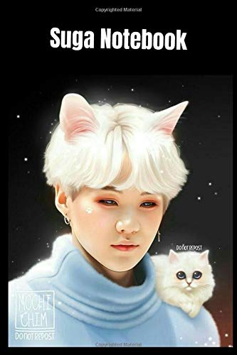 Suga Notebook: BTS Suga Min Yoon-Gi Notebook/ Agust D Journal/ Gift For BTS ARMY & Fans/ K-pop Journal/ 120 Lined Pages