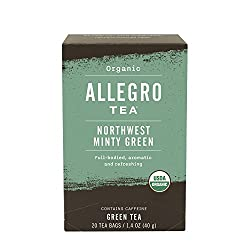 Allegro Tea, Organic Northwest Minty Green Tea Bags, 20 ct
