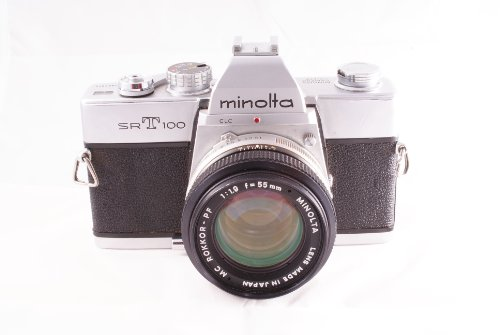 Minolta SRT-100 SLR Manual Camera Body and 50mm Lens