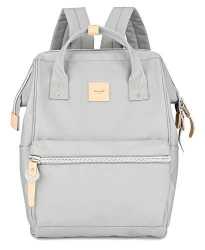 Himawari Travel School Backpack with USB Charging Port 15.6 Inch Doctor Work Bag for Women&Men College Students(1881-Grey)