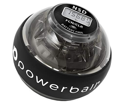 Powerball NSD 280Hz Autostart Ejercitador de Brazo, y Fortalecedor de Antebrazos, Mano y Muñeca, Negro (Hybrid Pro)
