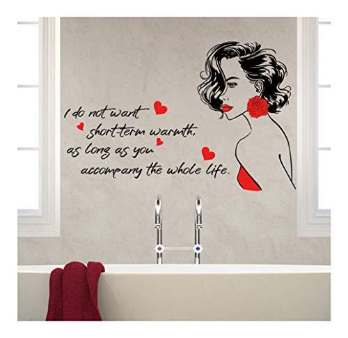 Adhesivo mural con cita de inspiración de chica roja