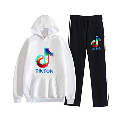 Suéter con Capucha Unisex para Niños Jersey De Manga Larga Sudaderas con Capucha TIK Tok Suéter con Capucha De Moda Callejera S