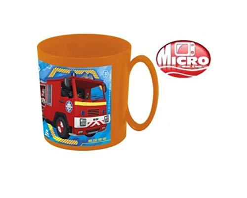 Feuerwehrmann Sam Tasse Trinkbecher mit Henkel Becher 350 ml | Geschenk | Jungen | Trinkbecher | Feuerwehr |