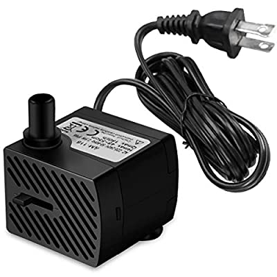 DOMICA Mini Submersible Water Pump, Small Fountain Pump (3W 50GPH) for Pond, Aquariums, Fish Tank, Tabletop Fountain, Pet Fountain, Indoor or Outdoor Fountain