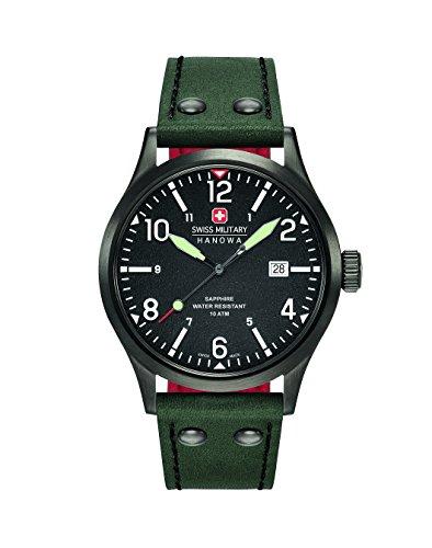 SWISS MILITARY-HANOWA Reloj Analogico para Hombre de Cuarzo con Correa en Piel 06-4280.13.007.06