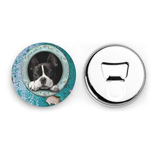 Boston Terrier Magneti da frigorifero Apribottiglie da birra Bottiglia di coca cola Vino Soda Apribottiglie Magnete da cucina Apribottiglie Magnetico 2 pezzi