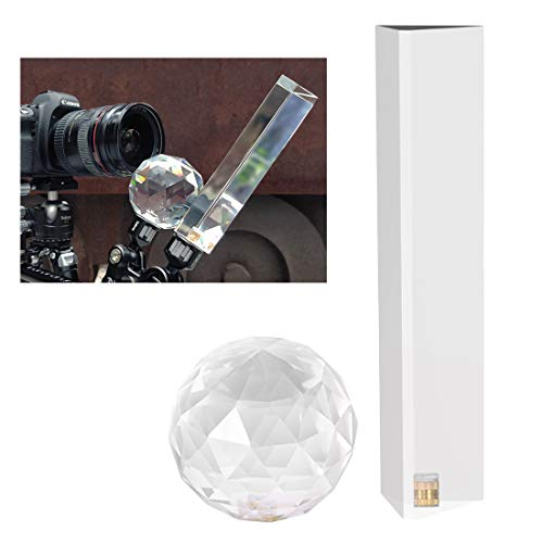 Selens Photography Triangular Prism and Prism Lens Ball with Female 1/4 Inch for Photos, Rainbow Prism Crystal Glass Effects Filters for Wedding, Portrait, Landscape Photo Studio Shooting