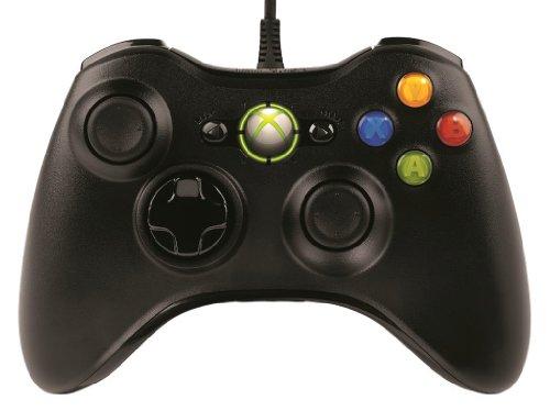 モンスターハンター フロンティアオンライン推奨 マイクロソフト有線 ゲーム コントローラーXbox 360 Controller for Windows リキッド ブラック 52A-00006