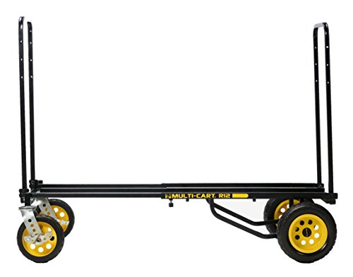 Rock-N-Roller R12RT (All Terrain) 8-in-1 Folding Multi-Cart/Hand Truck/Dolly/Platform Cart/34' to 52' Telescoping Frame/500 lbs. Load Capacity, Black