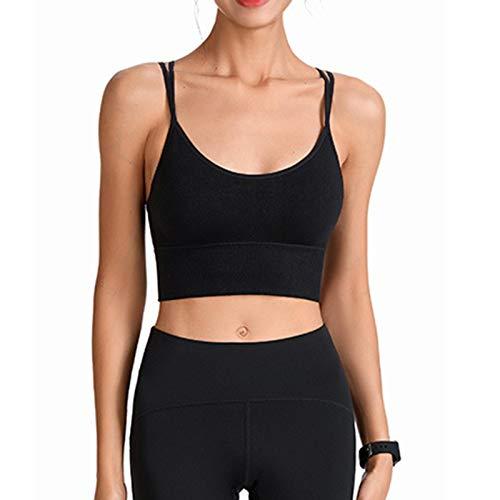 Repple Sujetador Deportivo Acolchado para Mujer, Secado rápido, Entrenamiento físico, Camisetas para Correr, Camiseta sin Mangas de Yoga, Ropa Interior de Belleza para la Espalda