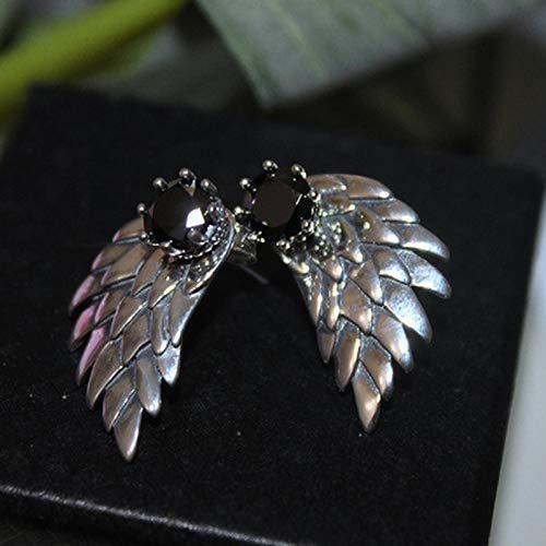FEARRIN Stud Earrings Angel Wing Earrings For Women Ladies Wings Stud Earrings Inlaid Cubic Punk Party Jewelry Brincos