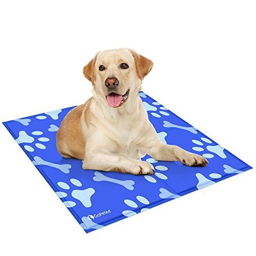 GoPetee Alfombrilla de Refrigeración para Mascotas Cama de Perro y Gato para Verano Animales Manta de Dormir Fresco Cojín,81 * 96cm