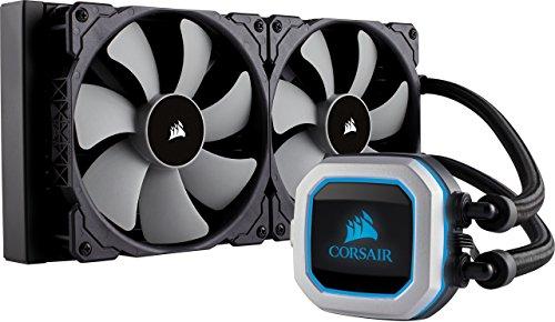 CORSAIR Hydro Series H115i PRO RGB CPU-Flüssigkeitskühlung (280-mm-Radiator, zwei ML Series 140-mm-PWM-Lüfter, RGB-Beleuchtung und Lüfter, Intel 115x/2066 und AMD AM4 kompatibel)