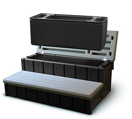 Confer Plastics Spa Step with Storage - Gray