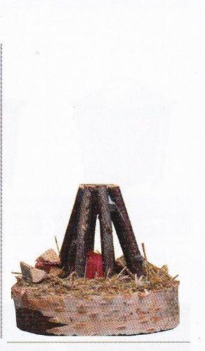 Lagerfeuer Feuerstelle für Krippe Weihnachtskrippe Krippenstall Krippenzubehör mit Beleuchtung 4,5 V