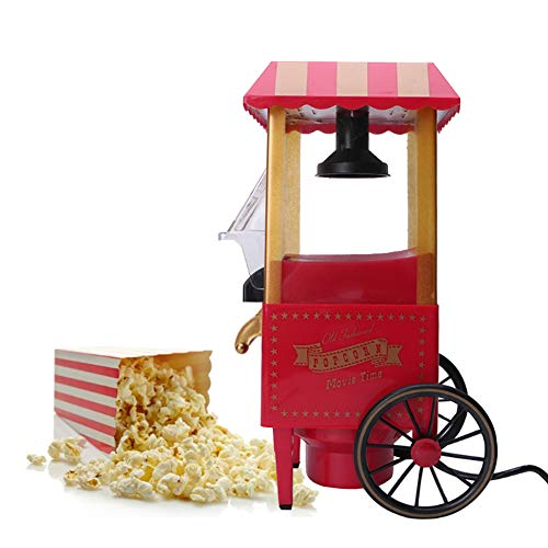 Read About Automatic Mini Pop Corn Machine, 1200W Hot Air Popcorn Maker Household Popcorn Squishy Po...