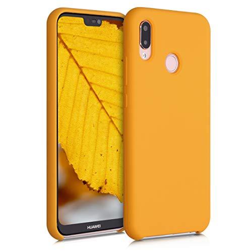 kwmobile Cover Compatibile con Huawei P20 Lite - Custodia in Silicone TPU - Back Case Protezione Cellulare Giallo Zafferano