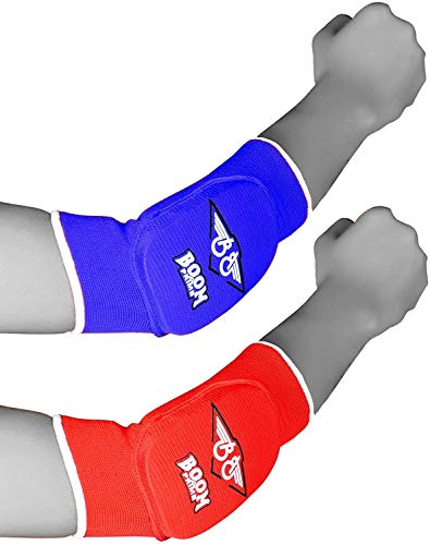 KiKFIT Ellenbogenschoner, mehrfarbig, Stützbandage, elastisch, gepolsterter Armschutz, MMA, Kickboxen, Kampfsport, Muay Thai, Verletzungen, Schmerzlinderung, Schutz bei Arthritis, UFC