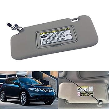 NHILES Sun Visor for Nissan 2009-2014 Murano Left Driver Side 96401-1AA1B Gray