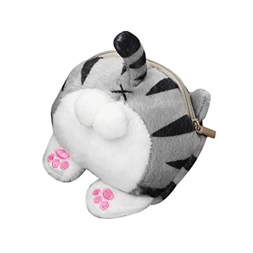 jieGorge Cat Butt E-gg Wallet Big Butt Bag Exciting Cute Cat Butt E-gg E-gg Coin Purse, Pillow Case for Easter Day (C)