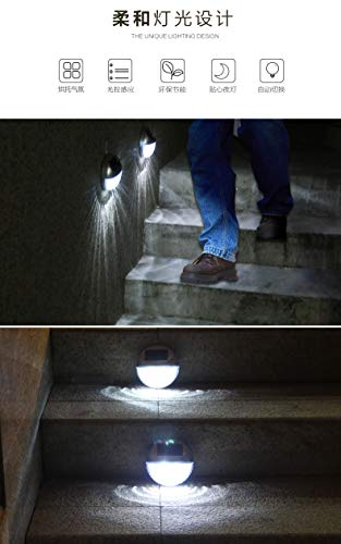 Bewegungssensor Treppenlicht LED Wand Laterne Solarleuchte LED Bewegungsmelder Batterie solar Beleuchtung Wandleuchte Solar Wandlampen Solarleuchte Beleuchtung Wetterfest für Garten Außen