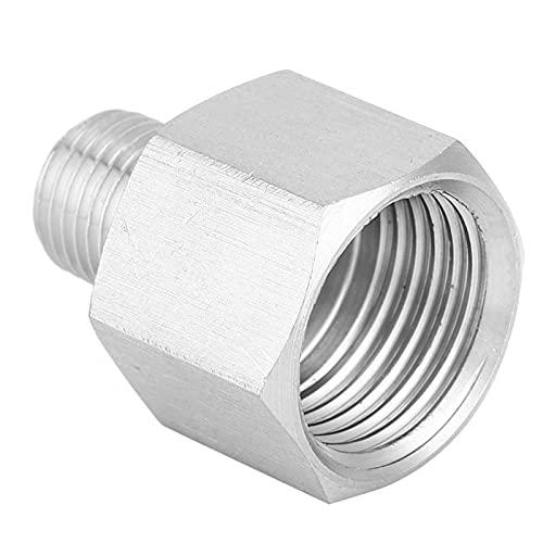 Okuyonic Conector de Rosca de Buen Sellado de Acero Inoxidable Montaje de tubería Enchufe rápido Acoplamiento rápido para tubería neumática para Manguera de Aire(Inner 1/2'-Outer 1/4')