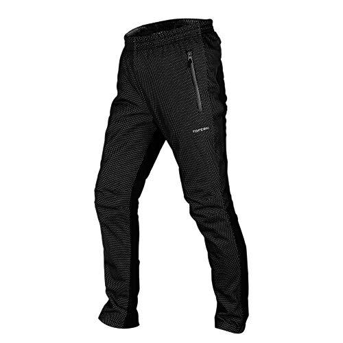 Tofern Uomo Pantaloni termici antivento da ciclismo per sport outdoor con fodera in pile
