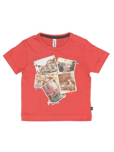 Label Company bfc Babyface Baby - Jungen Hemd 3107611, Gr. 68, Rot (Cayenne)