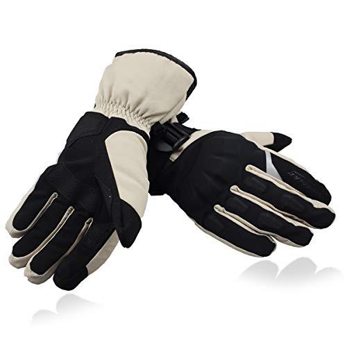MADBIKE RACING EQUIPMENT - Guanti da moto impermeabili, touchscreen, con dito completo, da uomo, invernali, per sport