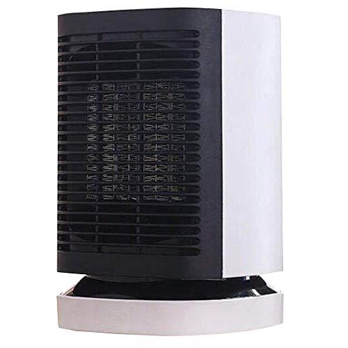 YCSD Mini Oficina En Casa Calentador Eléctrico Viento Cálido/Frío Dormitorio De Escritorio Oscilación Automática Protección contra Vuelcos Y Sobrecalentamiento(Color:Blanco)