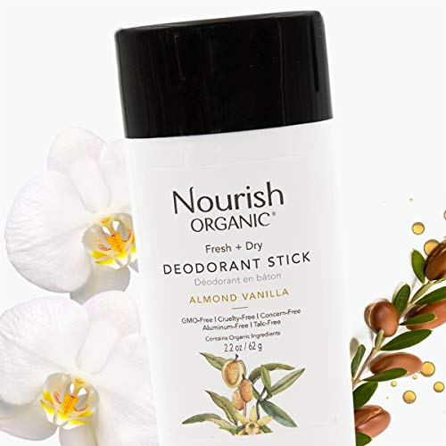Nourish Organic | Almond Vanilla Deodorant | GMO-Free, Cruelty Free, 100% Vegan (2.2oz)