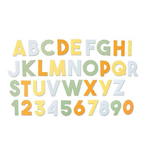 Sizzix 664385 Fustella Bigz XL, Alfabeto Spesso di Emily Tootle, Multicolore, Taglia unica