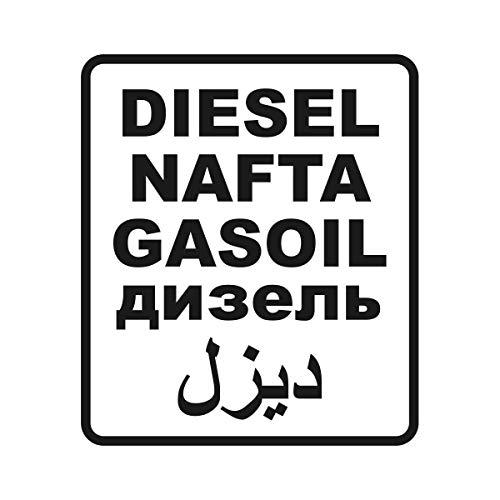 HM Grafikerteam Diesel NAFTA Gasoil Arabisch Tank Benzin Sticker Aufkleber - AG-0113