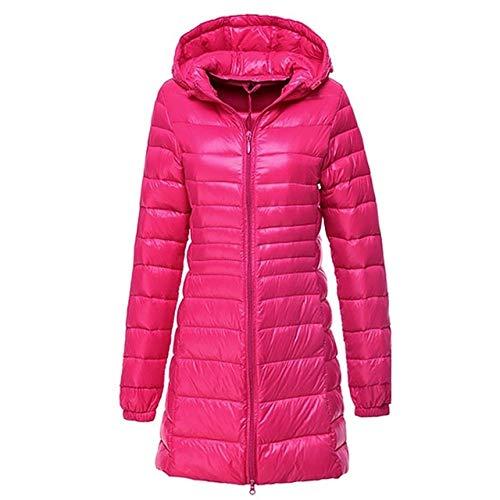 YRFHQB Merk Winter Lange donsjas vrouwen Ultralichte donzen dames warme capuchon mantel vrouwen ultralicht 90% donsparka