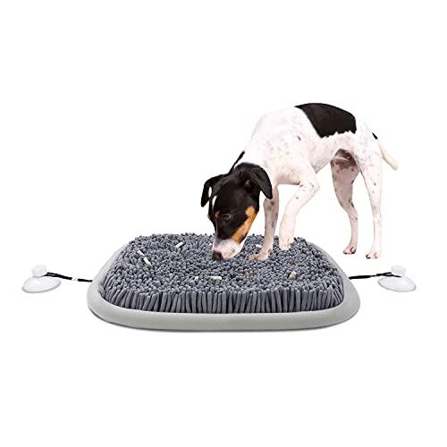 Schnüffelteppich Hund, 54 x 42 cm Schnupftabak Matte Rutschfestes Interaktives Hundespielzeug mit Saugnapf Plüsch Intelligenzspielzeug Hundebehandlung Fütterungsspiel Kleiner/Mittlerer/Großer Hund