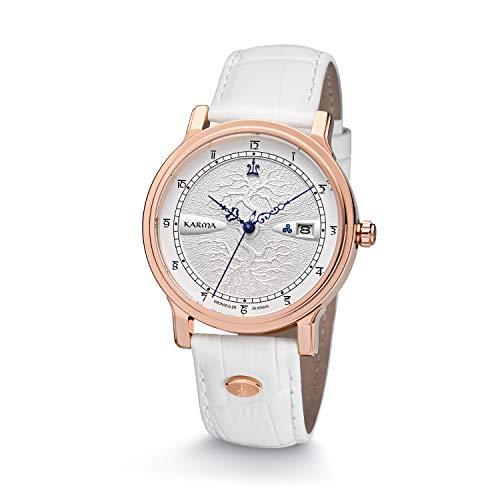 Kronsegler Karma - Reloj automático, color rosa, plateado y blanco
