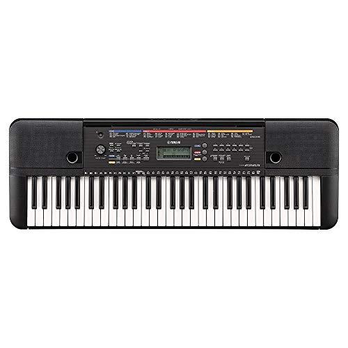 Yamaha Keyboard PSR-E263, schwarz – Ideales Einsteiger-Keyboard mit 61 Tasten & zahlreichen Instrumentenklängen – Portables Keyboard zum Lernen für Anfänger