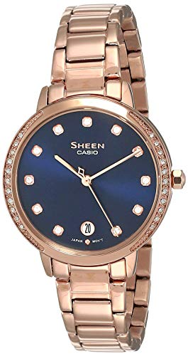 Casio Sheen Analog Blue Dial Women's Watch SHE-4056PG-2AUDF(SX270)