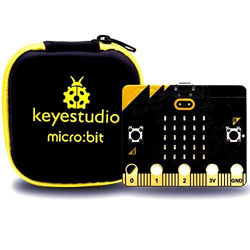 KEYESTUDIO BBC Micro:bit con 25 Luces led Que Puede detectar Movimiento,Control de música para Microbit Starter Kit