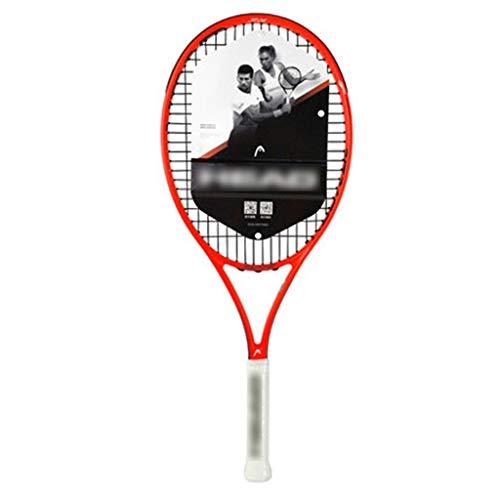 Raquetas Tenis para Niños Totalmente De Carbono para Niños De Escuela Primaria Profesional De 26 Pulgadas Traje Individual para Jóvenes (Color : Red, Size : 26in)