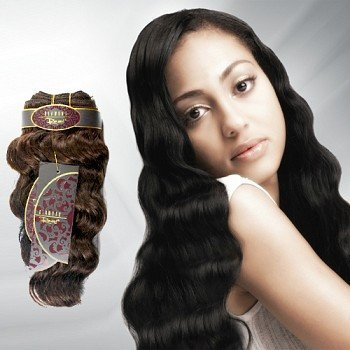 "Diamond Remi Ocean Wave Human Hair Weaving 16"" (#1(Jet Black))"