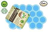 Silikon Baby Food Gefrierschrank Tray Mit Deckel - Wiederverwendbare Mold Storage Container Hausgemachte Baby Food - Gemüse, Obst Purees, Brust Milch und Eiswürfel - BPA Frei & FDA...