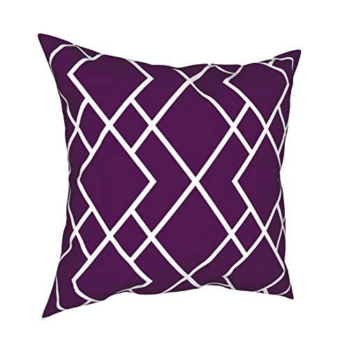 Oliver Allen - Funda de cojín cuadrada decorativa para sofá, dormitorio, 45,7 x 45,7 cm