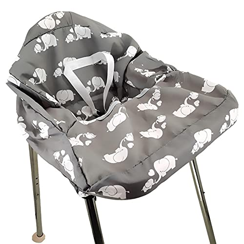 tulipes Funda para Carrito de Compras para bebé Funda de algodón para Silla Alta Cómoda Reversible Lavable a máquina para bebés, niños pequeños o niñas Grandes (Gris)