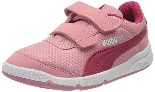 PUMA Stepfleex 2 Mesh VE V PS, Scarpe da Ginnastica Unisex-Bambini, Rosa (Peony-Bright Rose White), 35 EU